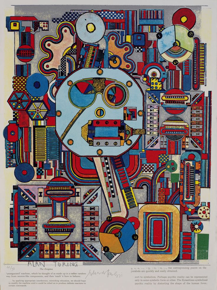 Wherever we are, what we hear is mostly noise. When we ignore  it, it disturbs us. When we listen to  it, we find it fascinating  Screenprints by Eduardo Paolozzi  Title: John Cage