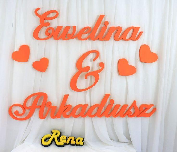 Imiona ślubne na ściankę  Nowożeńców  Ewelina&Arkadiusz