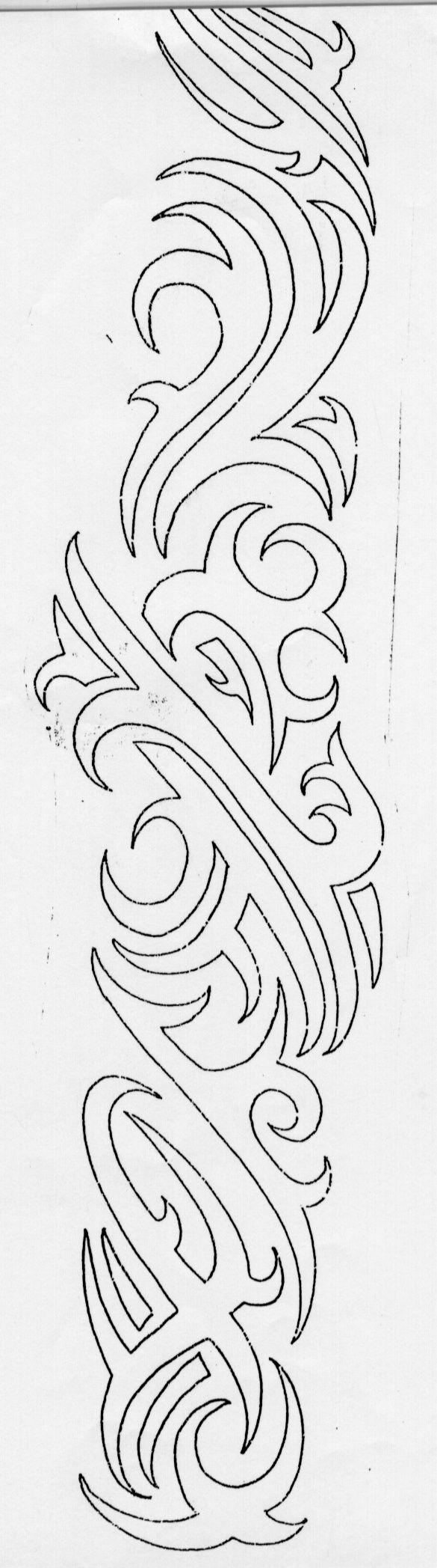 Tribal tattoo outlinesforearm tattoo designs writingtattoos ...