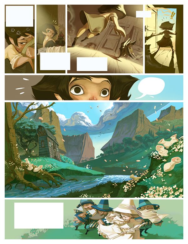 THE WIZARD OF OZ comic book PAGES on Behance