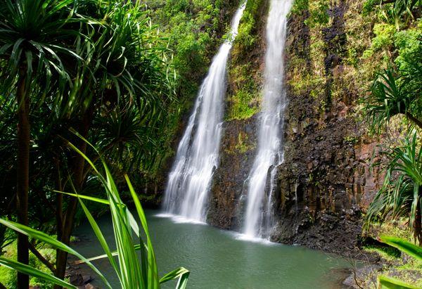 Kauai has some of the most breathtaking waterfalls like this one... Wailua Falls.