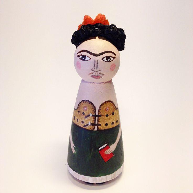 frida kahlo / hand-painted / handmade / by deniz altas