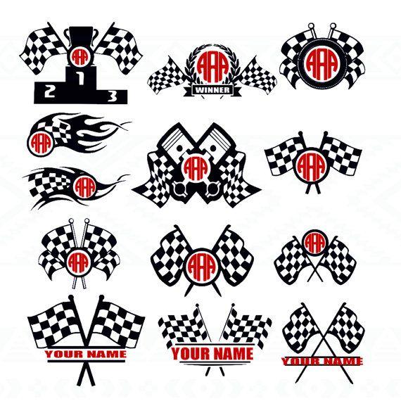 Race Flag Racing,flag, checkered, race, race flag svg, ,Svg Cuttable Design…