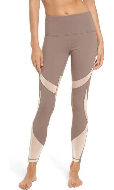 define high waist leggings by Zella. Smooth, ergonomic seaming flatters the figure and minimizes slippage and friction while working out your hardest in these moisture-managing leggings.  #zella #leggings