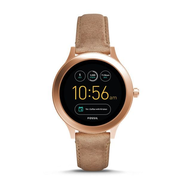 A smartwatch that (actually) looks the part. With a new full-round digital display, our Q Venture offers multiple features like customizable faces, discreet notifications and automatic activity tracking to help make your life easier—and a bit more stylish.Powered by Android Wear™ 2.0, Fossil Q Venture is compatible with phones running Android™ 4.3+ or iOS 9+. Supported features may vary by platform. Android and Android Wear are trademarks of Google Inc.