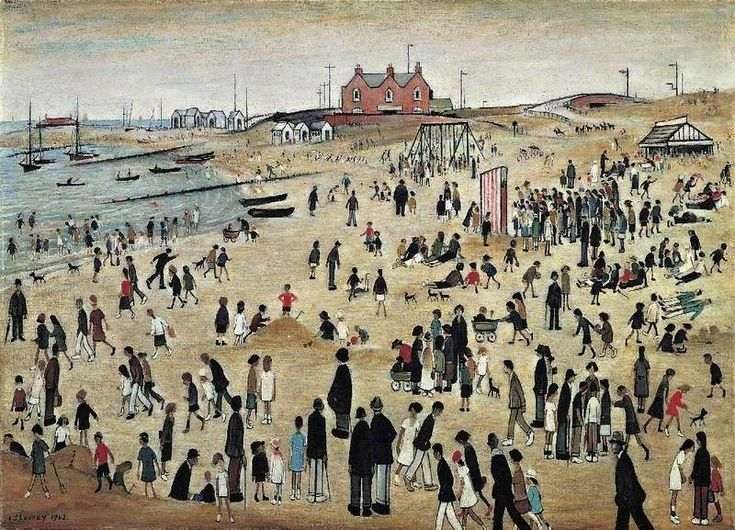 July, the Seaside by Laurence Stephen Lowry