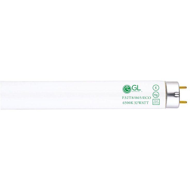 Goodlite F32T8/865/ECO 32W 48-inch T8 Fluorescent Tube Lights Daylight 6500k