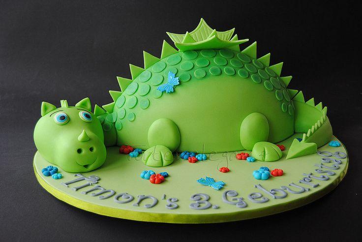 3D Drachen Torte 3. Kindergeburtstag