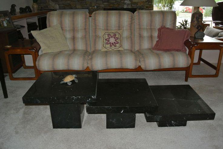 1980s Teak 3 seat Sofa