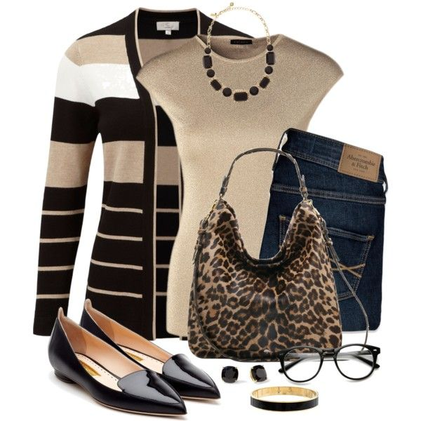 Black and Tan by snickersmother on Polyvore featuring CC, ESCADA, Abercrombie & Fitch, Rupert Sanderson, Mulberry and Kate Spade