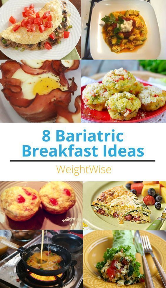 8 Bariatric Breakfast Ideas Gastric Bypass Food Pinterest