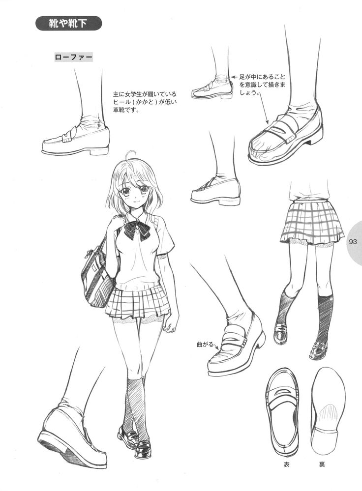 knickerweasels: Drawing Feet and Shoes from 萌えキャラクターの描き方 (How to draw moe…