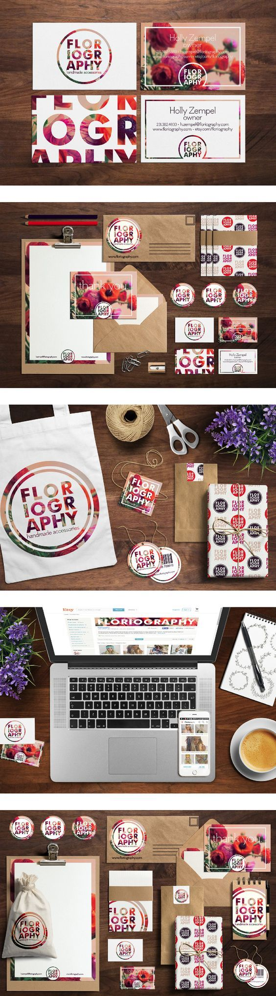 Floriography branding by Amanda Jewell: