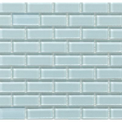 "Martini Mosaic Essen 1"" x 2"" Glass Subway Tile in Riviera…"