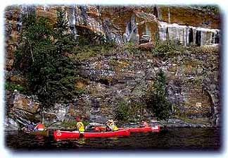 Canoeing northern waterways, La Ronge Provincial Park, SK