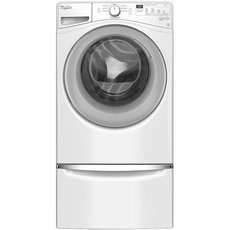 Lavadora Whirlpool 18 Kg de carga frontal en color blanco; Con certificación CONAGUA<br>11 Ciclos automáticos<br>Múltiples niveles de agua<br>3 Depósitos automáticos<br>Motor Direct Drive<br>Tecnología Adaptive Wash con vapor<br>Canasta Smooth Wave 100% A