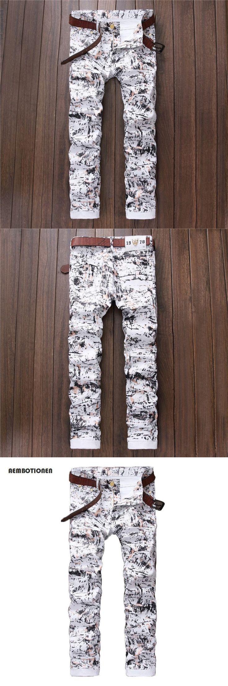 2016 Autumn Stylish Barber Casual Pants Mens Dot Printed PU Pants Slim Straight Night Club DJ Trousers Pants Slacks For Male