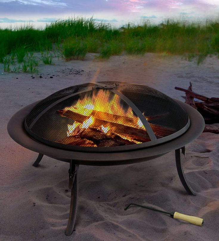 Portable Fire Pit To Go With Carrying Bag