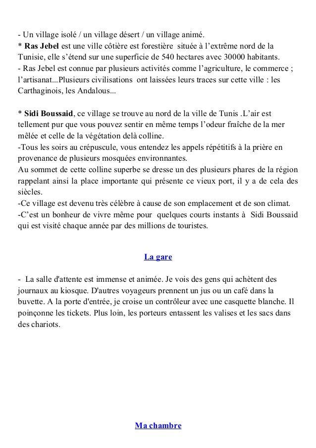Production Ecrite Sur La Maladie 5eme Annee Primaire