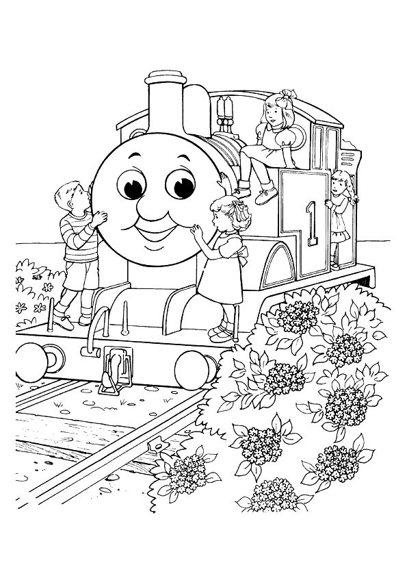 57 best images about coloriages de trains on pinterest - Thomas le petit train coloriage ...