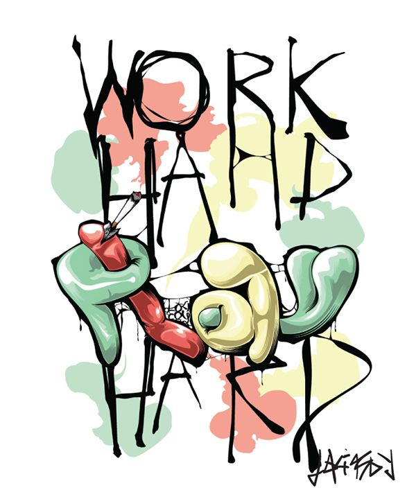work hard play hard #typography #workhardplayhard