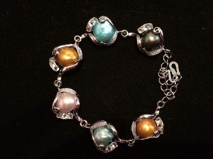 Silver Coloured Pearl Bracelet