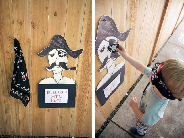 "For ""W""!! Pin the eye patch on the #pirate game! Could come up with other fun variations on this classic party game!"