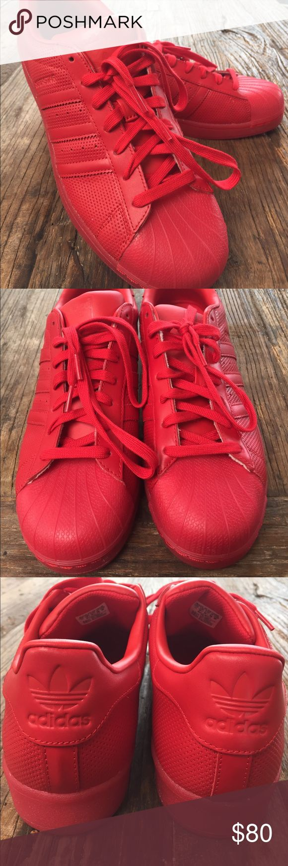 Rare Brand New All Red Adidas Shell Toes Never been worn and brand new adidas Shoes Sneakers