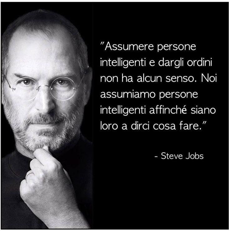 Steve Jobs #frasi #intelligenza #lavoro