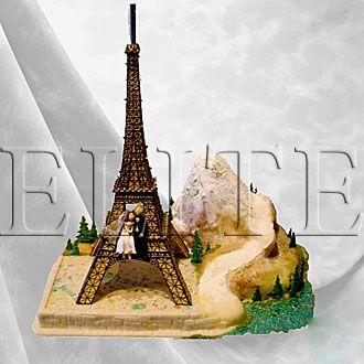 Торт свадебный эйфелева башня