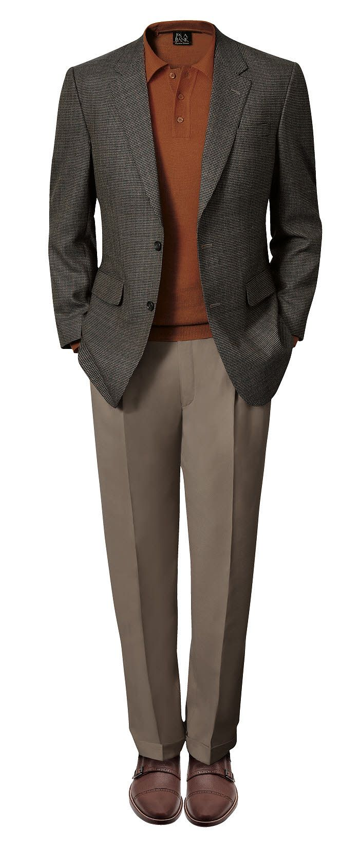 Take your layers up to the next level with this olive microcheck Executive Sportcoat.