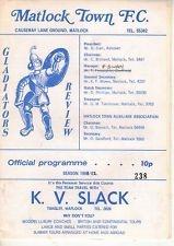 Matlock Town v Kings Lynn 15th August 1981 N.P.L.