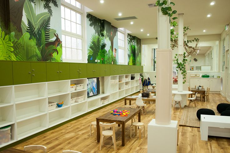 Rainforest themed Preschool room for children 4-5 years olds at Greenwood Concord. www.greenwood.com.au