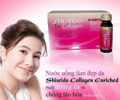 Collagen Nhật Bản Shiseido enriched giúp bổ sung Collagen và phục hồi Elastin đã hư tổn theo thời gian, từ đó giúp đàn hồi tốt hơn, mềm mại, mịn màng, ngăn ngừa dấu hiệu lão hóa da