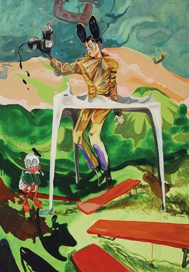 Wolfgang Neumann, Popsic (Michael Jackson) 2009, Mischtechnik auf Leinwand Mixed media on canvas, 140 x 100 cm