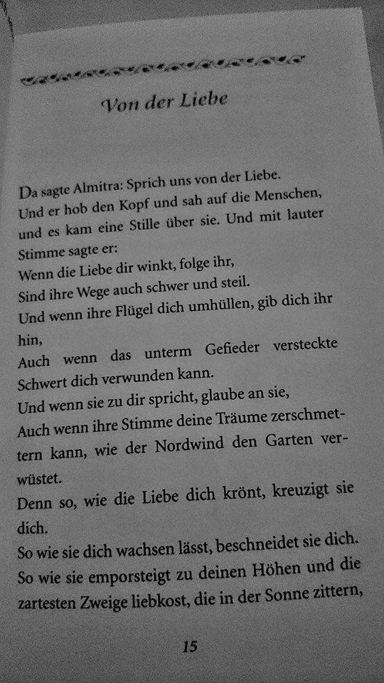 """""""Der Prophet"""" von Khalil Gibran  """"von der Liebe"""" Pt. 1"""