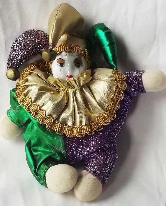 Vintage Clown Doll Collectible Jester by WhisperingNightOwls