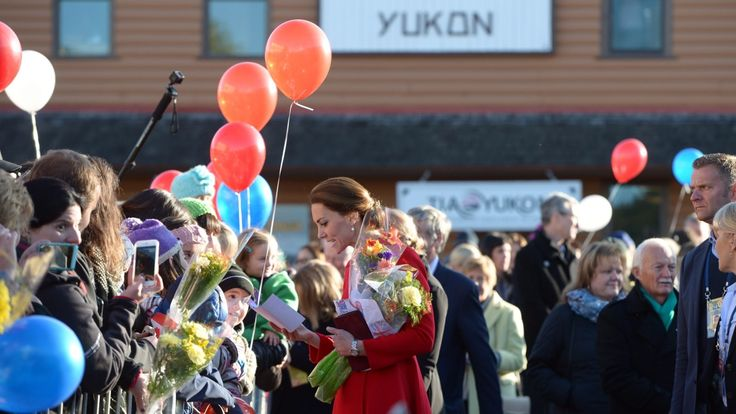 The Duke and Duchess of Cambridge continue their Yukon visit today. They began with a visit to a local museum and a walk through downtown Whitehorse.