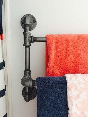 Pipe Towel Rack Diy Industrial Double Towel Rack Diy Home Kitchens Pinterest Industrial