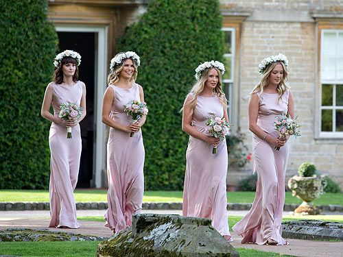 Millie Mackintosh kitted out her bridesmaids in these lovely pink Ghost dresses.   - Cosmopolitan.co.uk