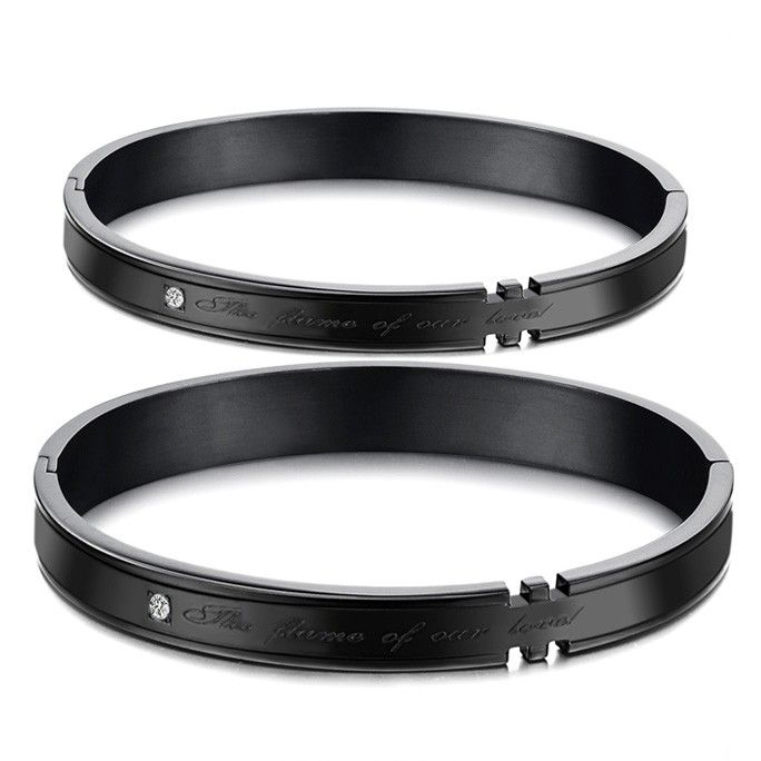 Stainless Steel Couples Bracelets for Best friends Set of 2