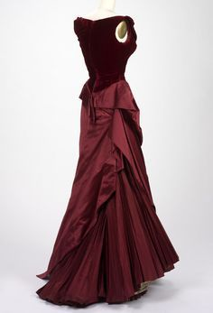 "fripperiesandfobs: ""Charles James evening dress, 1955 From the RISD Museum """
