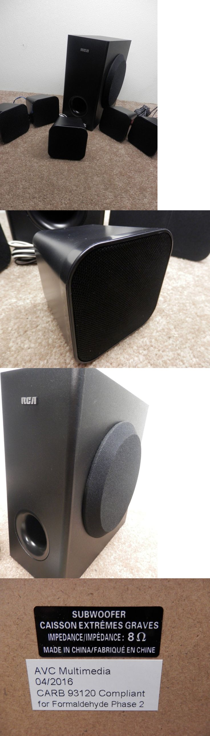 Home Theater Systems: Rca 5.1 200 Watt Replacement Subwoofer And 5 Speakers Model#Rtd3276h -> BUY IT NOW ONLY: $34.25 on eBay!