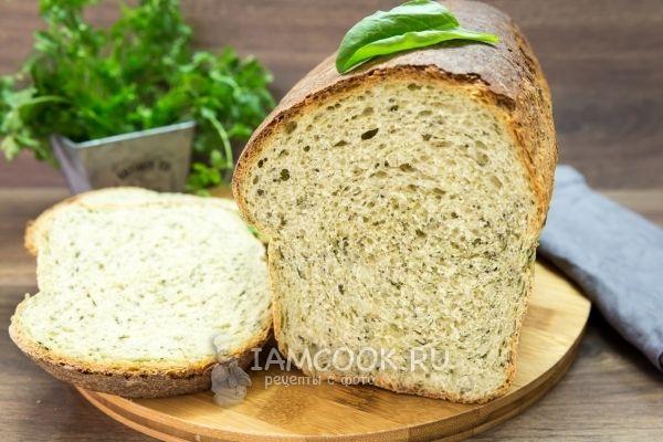 Шпинатный хлеб с цельнозерновой мукой в духовке