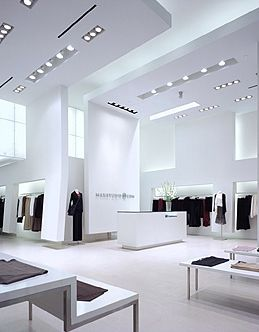 Retail Design | Store Interiors | Shop Design | Visual Merchandising | Max Studio, white store by George Yu architects