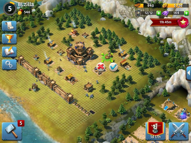 Siegefall | Tycoon Phase | Moving Structures | UI HUD User Interface Game Art GUI iOS Apps Games | Gameloft | www.girlvsgui.com