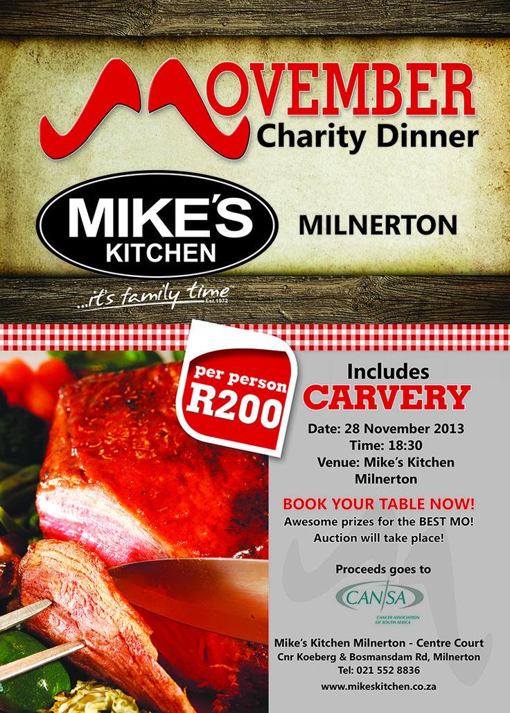 Mike's Kitchen Milnerton Movember Charity Dinner