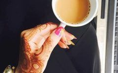 Cute Stylish Girl Hold Cup of Tea Latest Dp Pic for Fb