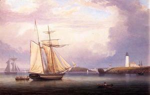 Drying Sails off Ten Pound Island  Fitz Hugh Lane