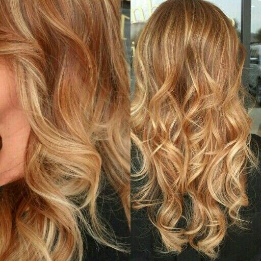 Warm dark blonde with strawberry and light blonde highlights-exactly what I've been looking for